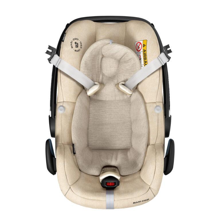 maxicosi carseat babycarseat pebblepro sand nomadsand easyinharness front group0+ infant belt isofix isize