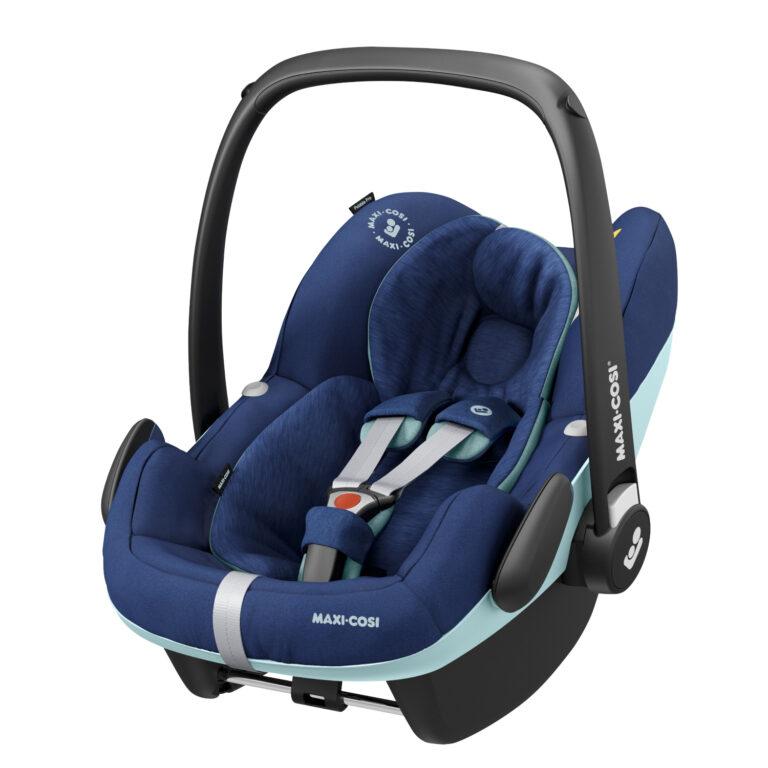 maxicosi carseat babycarseat pebbleproisize blue essentialblue 3qrtleft Group0+ Infant iSize ISOFIX 3wayFix Frombirth 3pointseatbelt 8712930155393