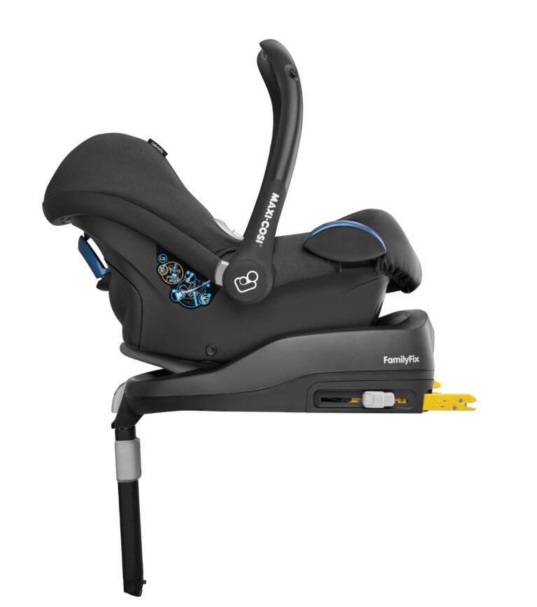 maxicosi carseat babycarseat cabriofix 2018  black nomadblack rearwardfacing  side group0+ infant belt isofix isize