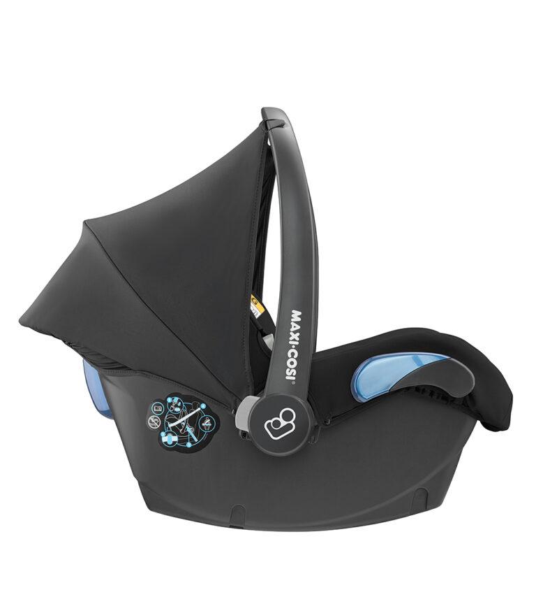 maxicosi carseat babycarseat citi 2018 black nomadblack suncanopy  side group0+ infant belt isofix isize
