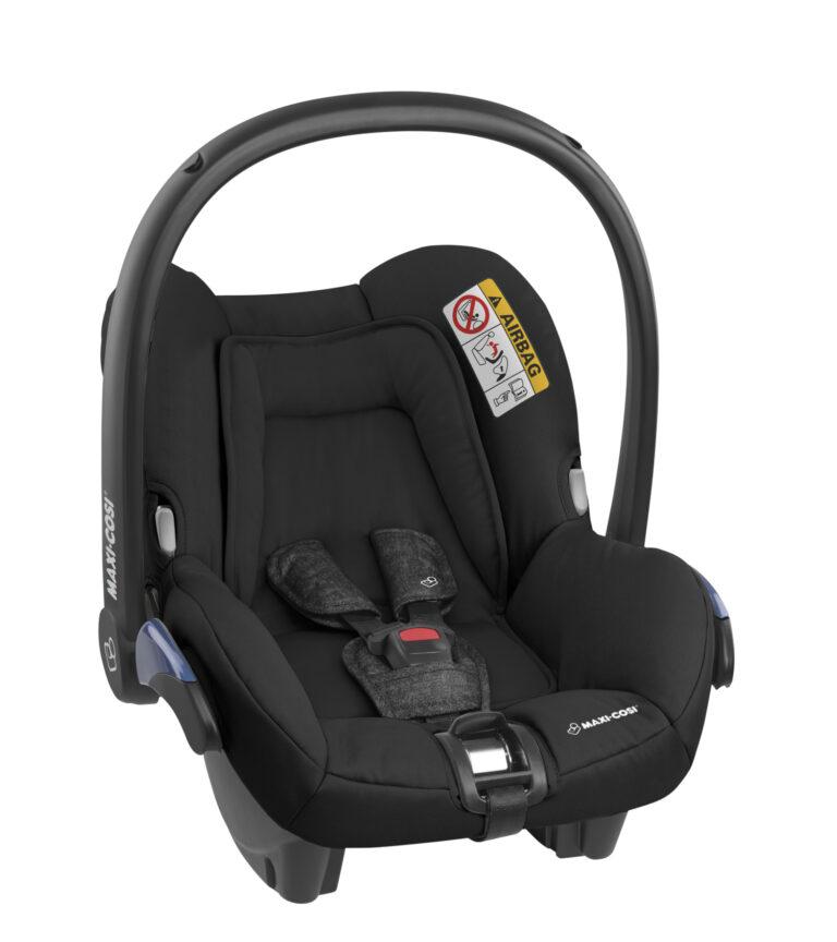 maxicosi carseat babycarseat citi black nomadblack 3qrtright group0+ infant belt isofix isize