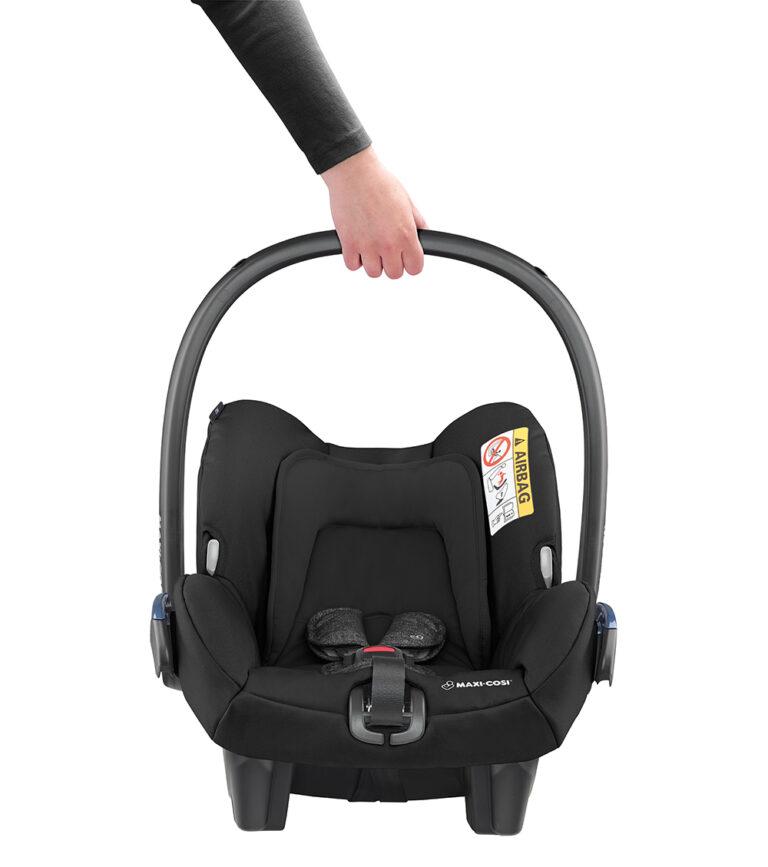 maxicosi carseat babycarseat citi 2018 black nomadblack lightweight front group0+ infant belt isofix
