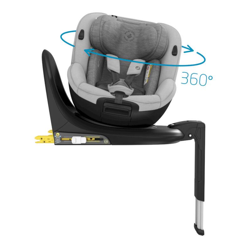 maxicosi carseat babytoddlercarseat mica grey authenticgrey 360swivellingseat side 8712930162674 Group0+1 Infant Toddler iSize ISOFIX