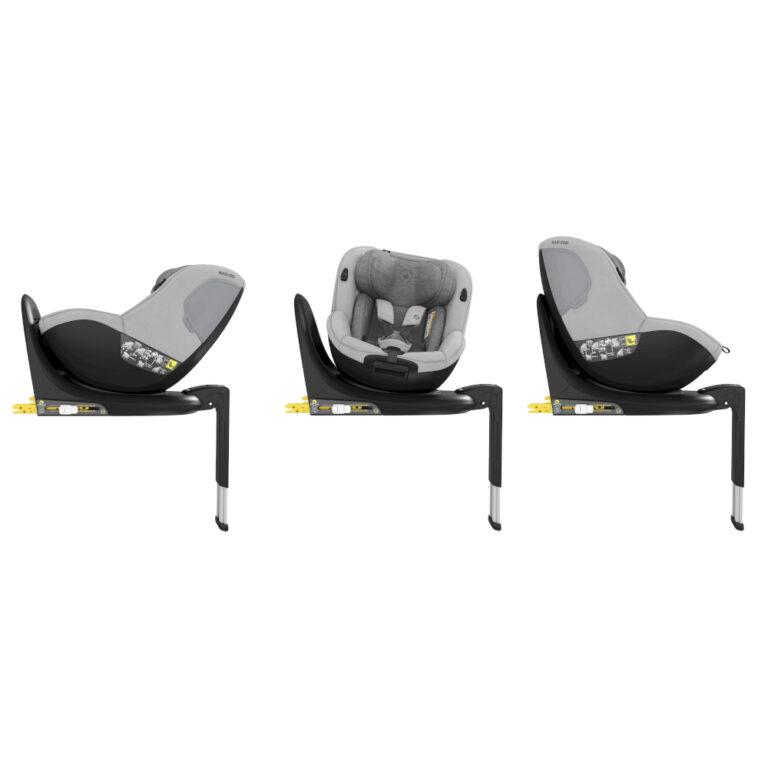 maxicosi carseat babytoddlercarseat mica 90° grey authenticgrey side 8712930162674 Group0+1 Infant Toddler iSize ISOFIX