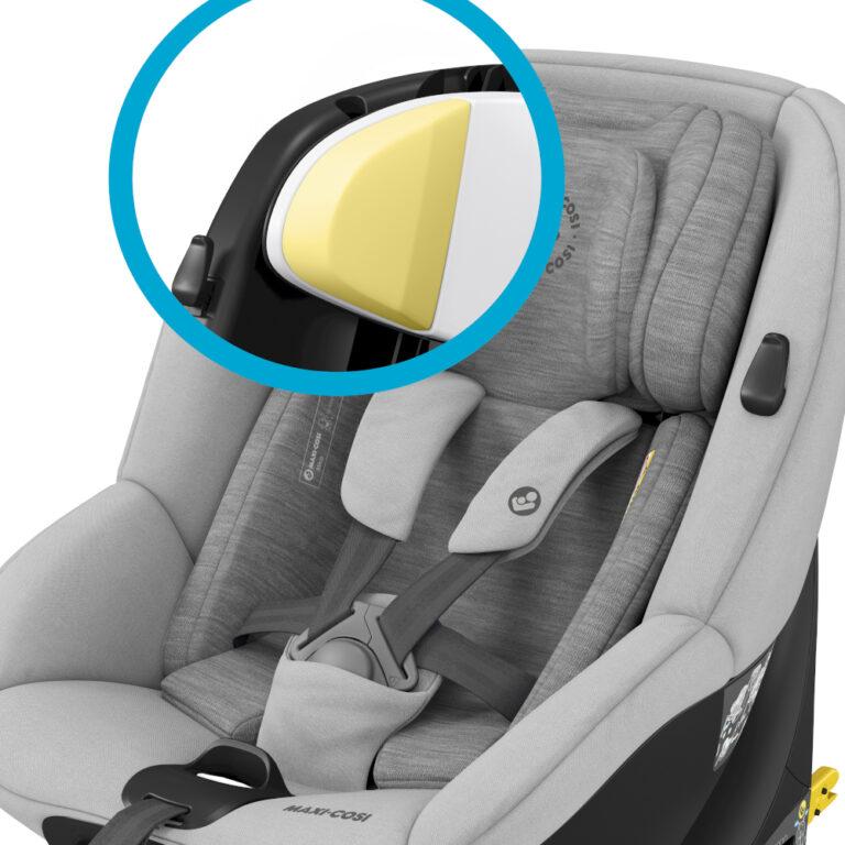 maxicosi carseat babytoddlercarseat mica grey authenticgrey memoryfoam 3qrt 8712930162674 Group0+1 Infant Toddler iSize ISOFIX